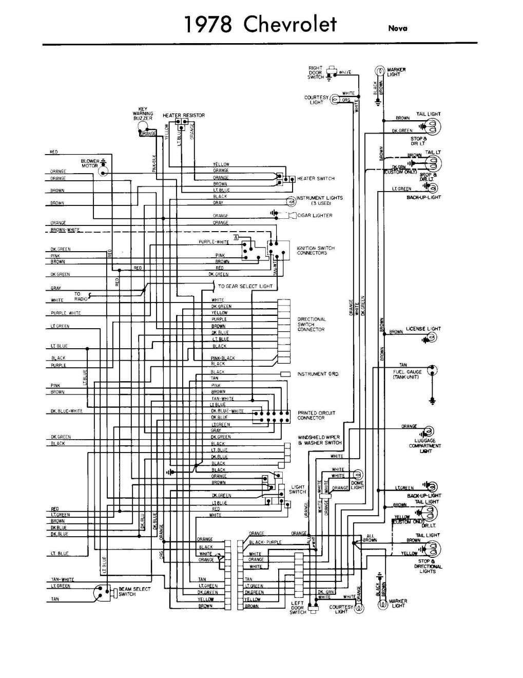 1978 Chevrolet Alternator Wiring Diagram Free Download