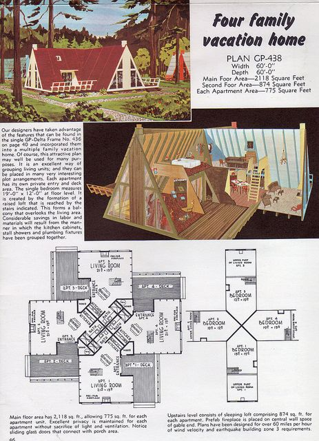 Untitled A Frame House Plans A Frame House Vintage House Plans