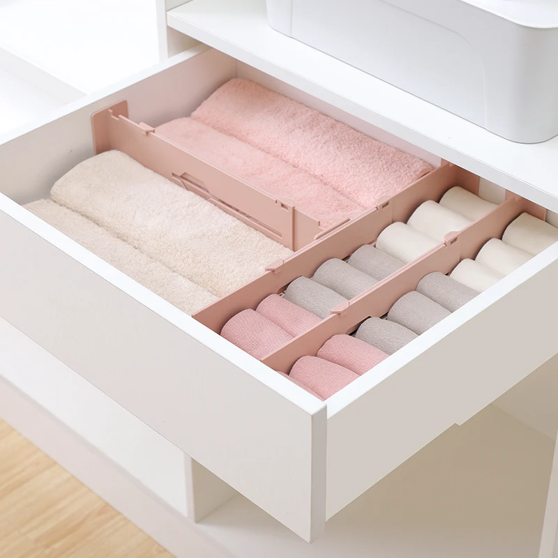 Retractable Adjustable Drawer Divider Organizer Elitehomeimage In 2020 Drawer Divider Plastic Cabinets Household Storage Drawers