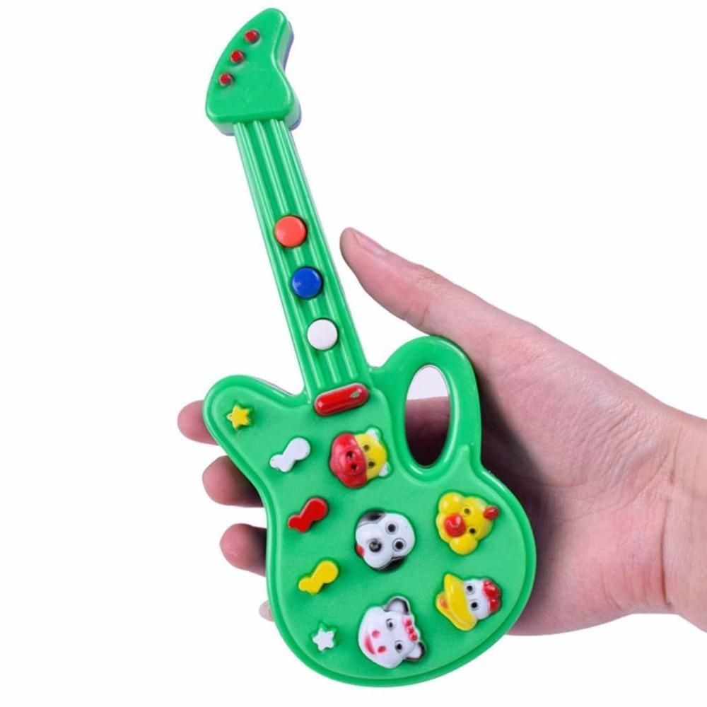 Electronic Guitar Toys Nursery Rhyme Musical Instrument For Babys Kids Children