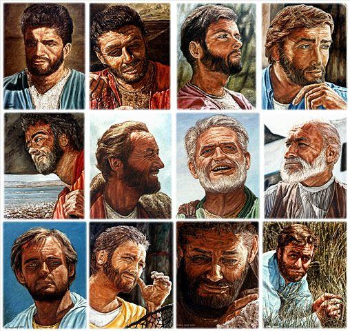 twelve apostles of jesus twelve original oil paintings on canvas by l lovett