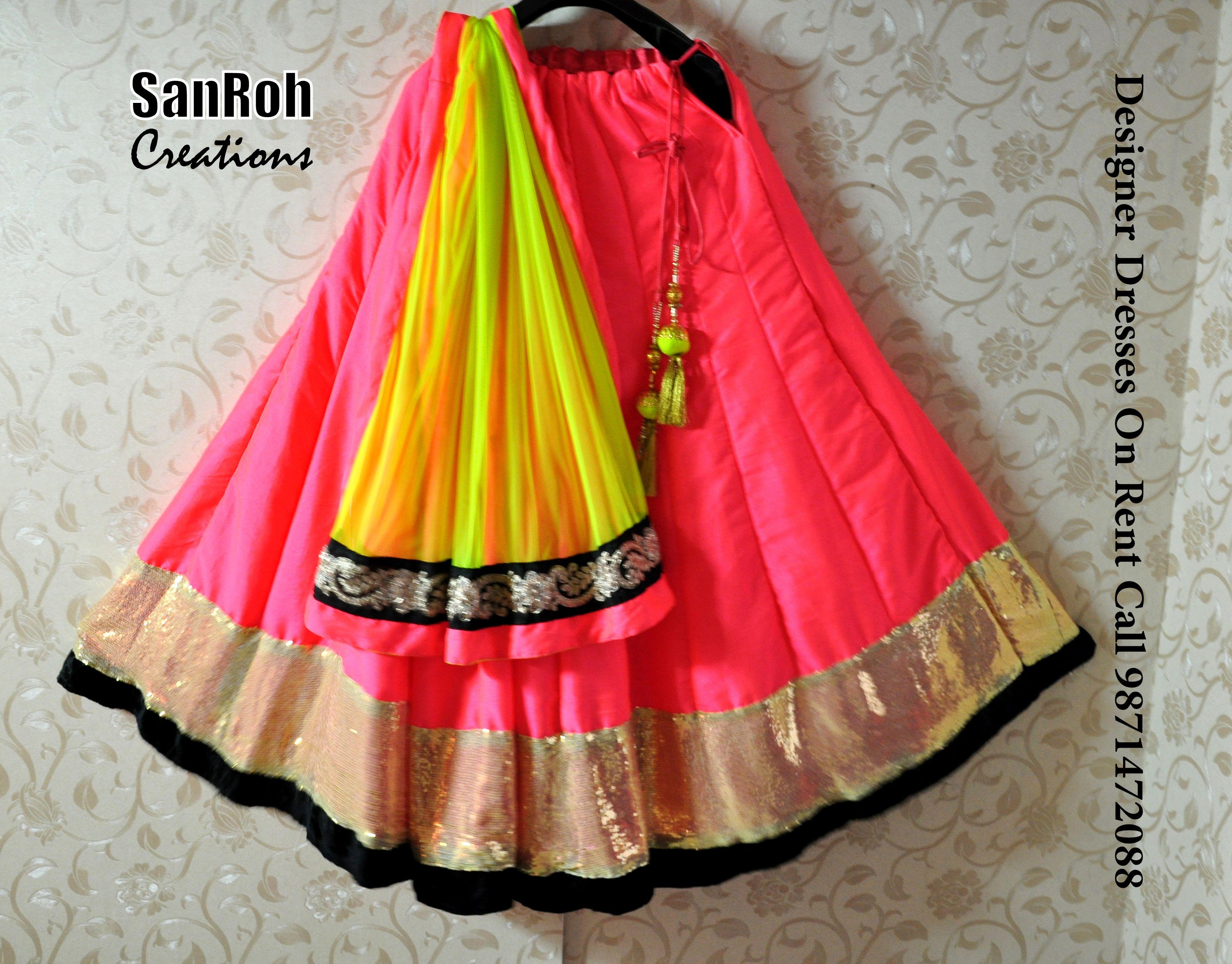 Neon Lehenga On Rent/Sale | Wedding dress ideas | Pinterest | Neon ...