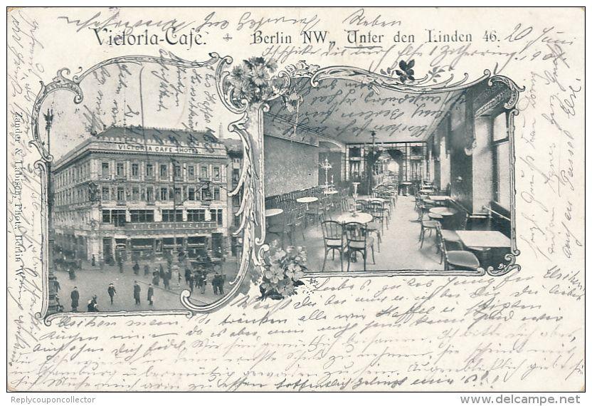 BERLIN 1901 , Victoria Cafe Unter den Linden 46 (Numéro