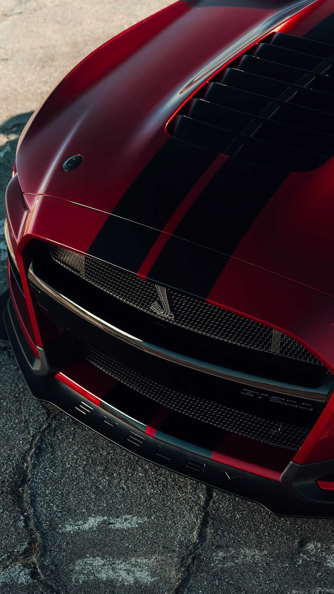 New, 2020 Ford Mustang Shelby GT500, front end Мощные
