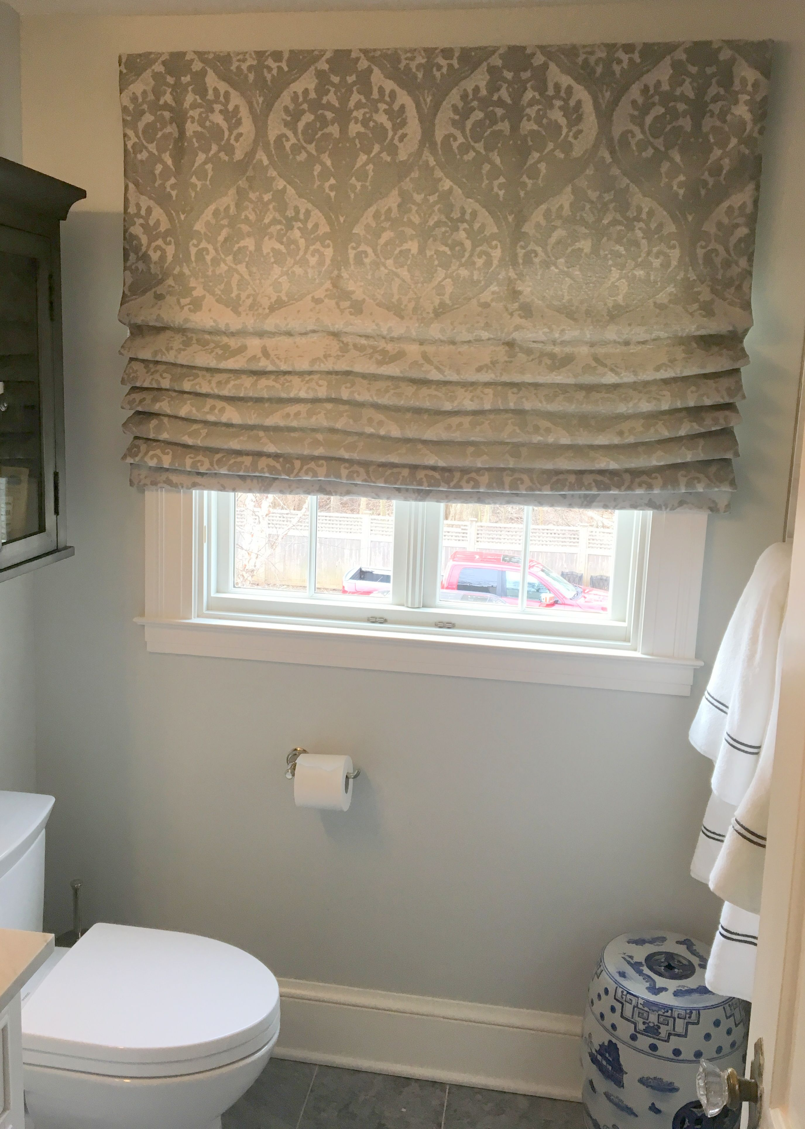 Classic Roman Shade fits perfectly in this newly re ...
