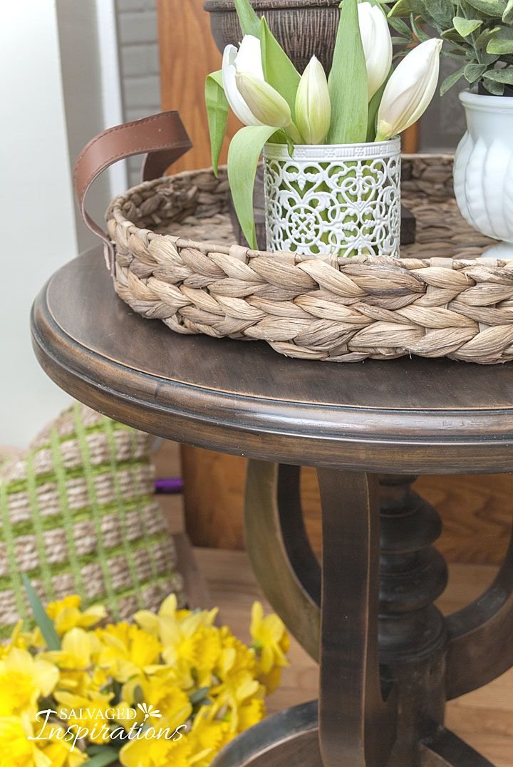 how to paint over stained wood furniture
