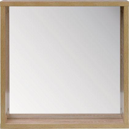 skydale framed bathroom mirror shelf wood grain homebase. Black Bedroom Furniture Sets. Home Design Ideas