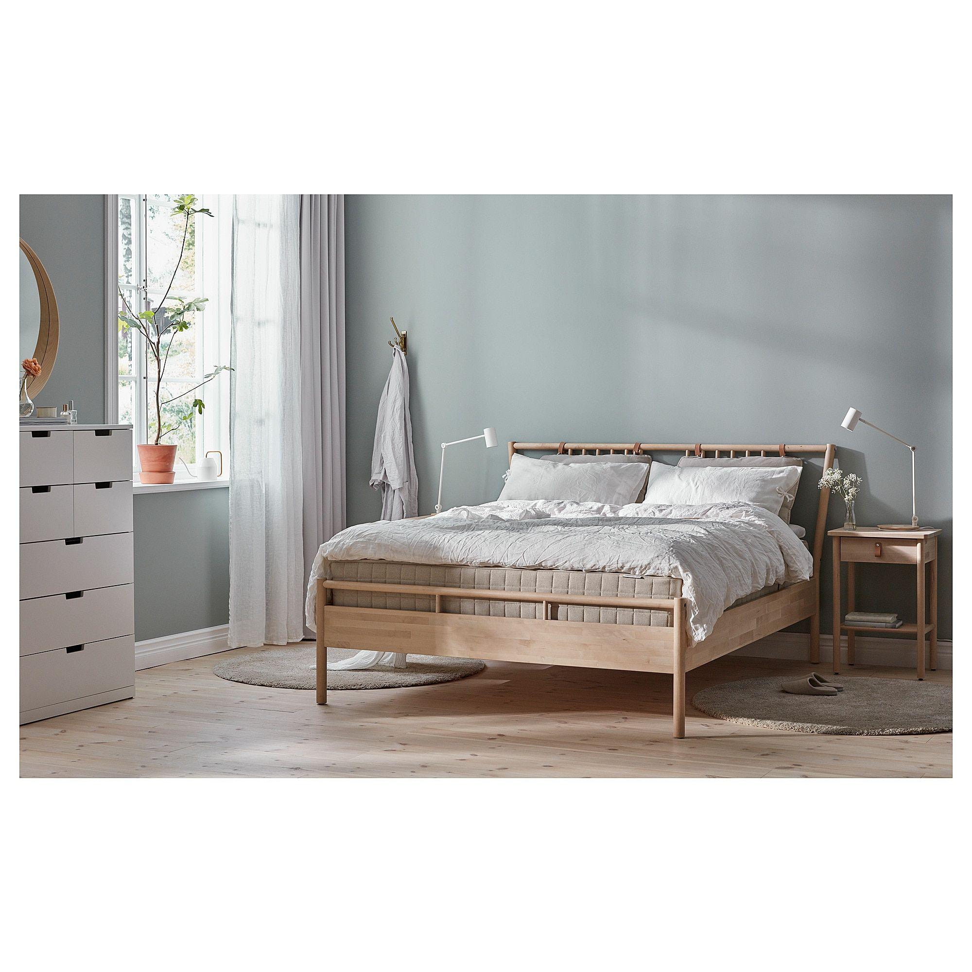 Bjorksnas Bed Frame Birch Luroy King Bed Frame Bed Slats
