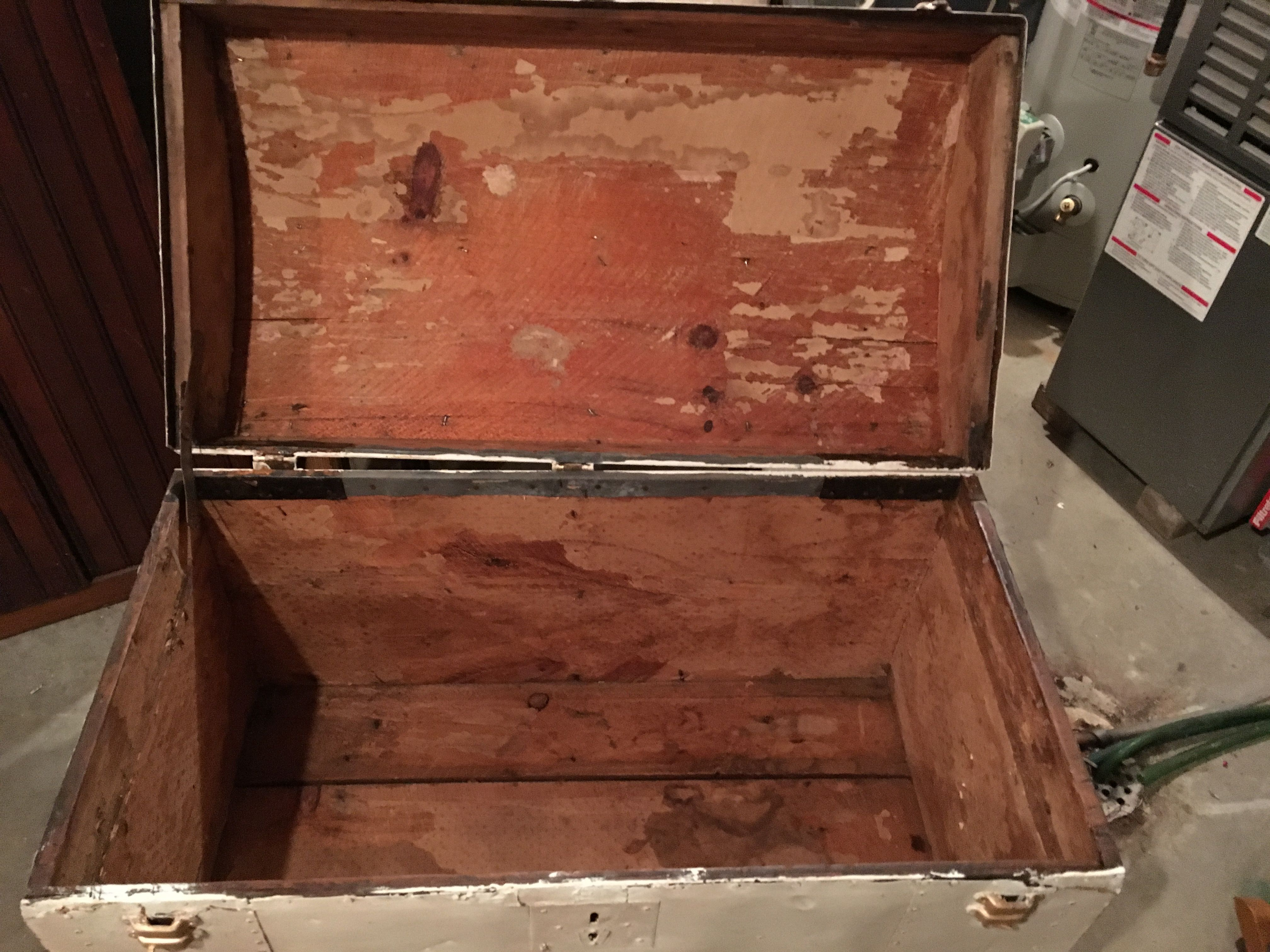 Finishing The Inside Of The Trunk Step 1 Scrape The Paper Liner