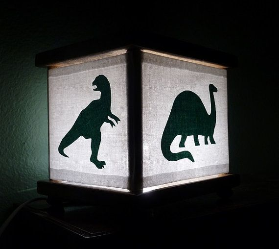 Dinosaur Night Light Lamp Green Dinosaurs Trex | Dinosaur