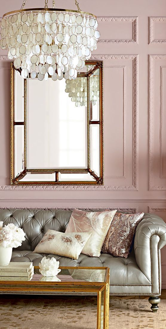 princess parlor   a glam mix dusty rose Pinterest Vorfreude - wohnzimmer grau gold