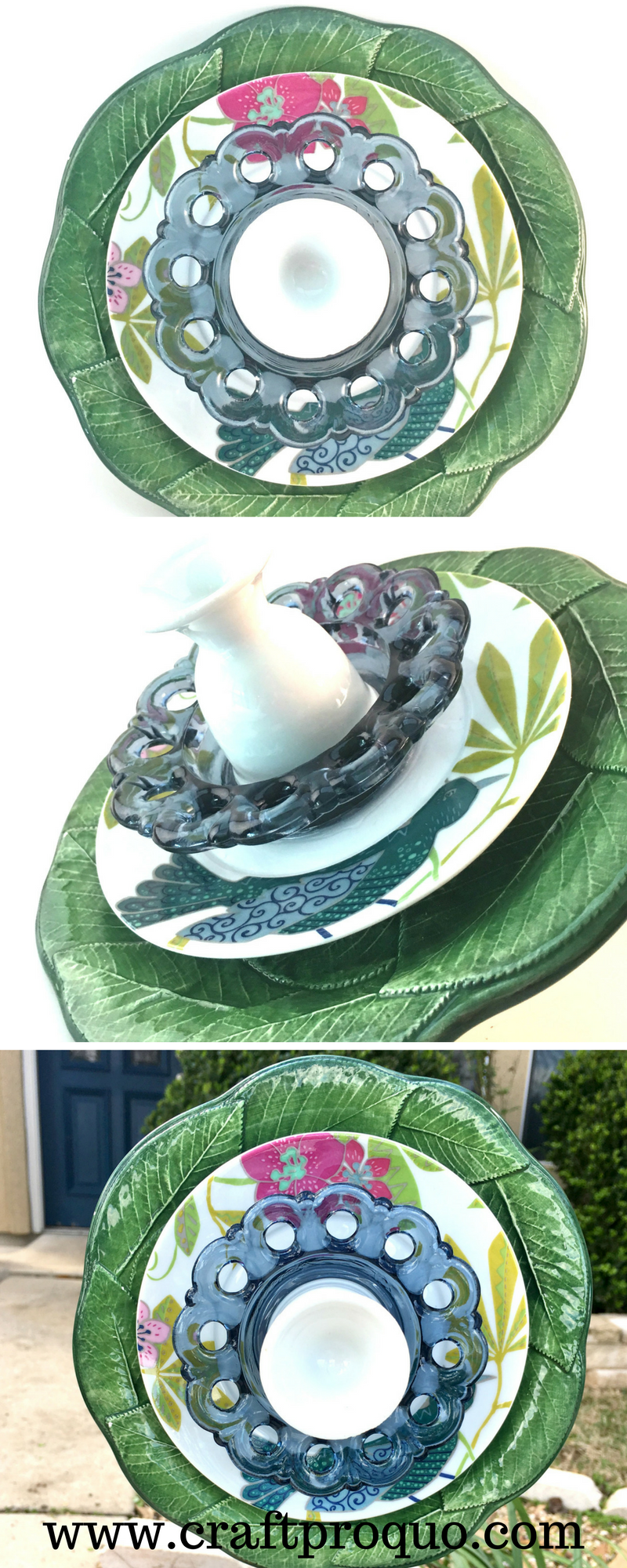 Garden glass flower / Glass garden decor / Suncatcher / Garden ...