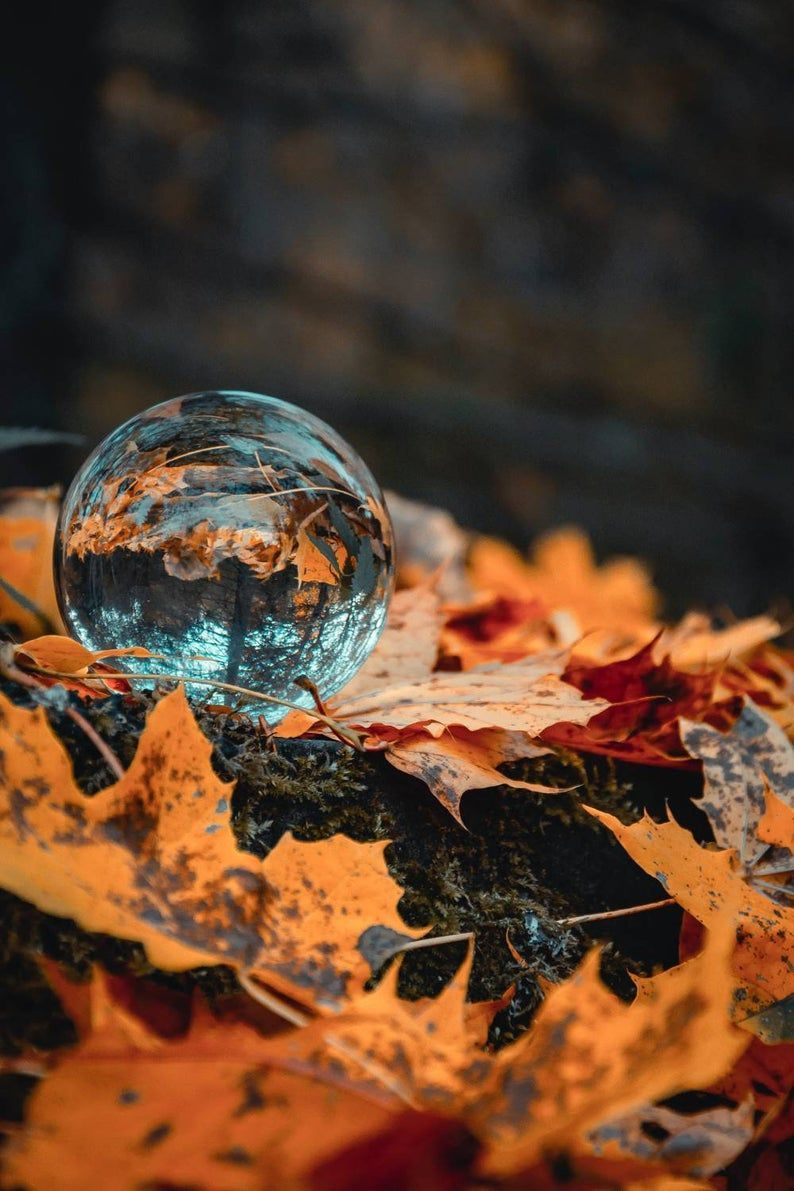 Highest Quality Crystal Glass Sphere Meditation Crystal Ball Different Sizes To Choose Between Autumn Leaves Wallpaper Leaf Wallpaper Stock Wallpaper Wallpaper glass ball beach sand wave