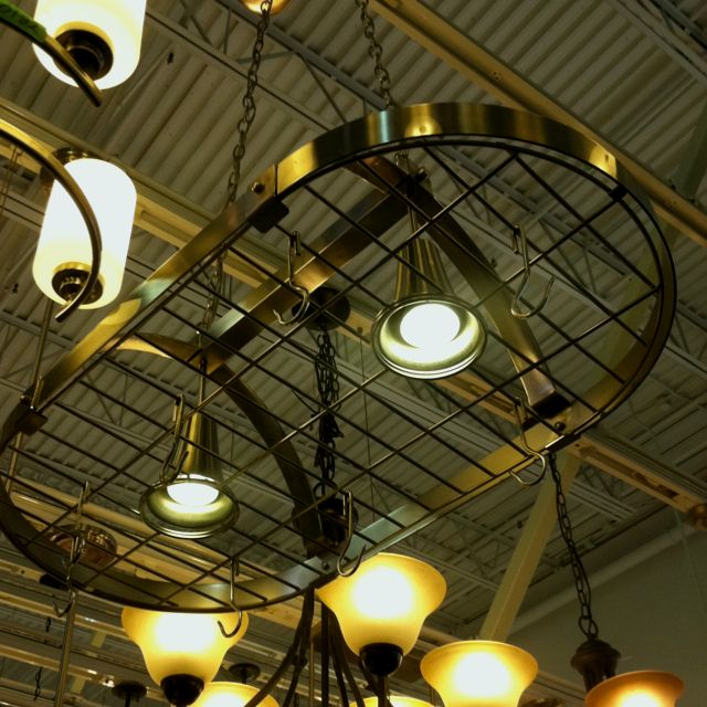 Kitchen Lighting At Menards: Pot Rack With Lights, $99 At Menards... Like This If I Had