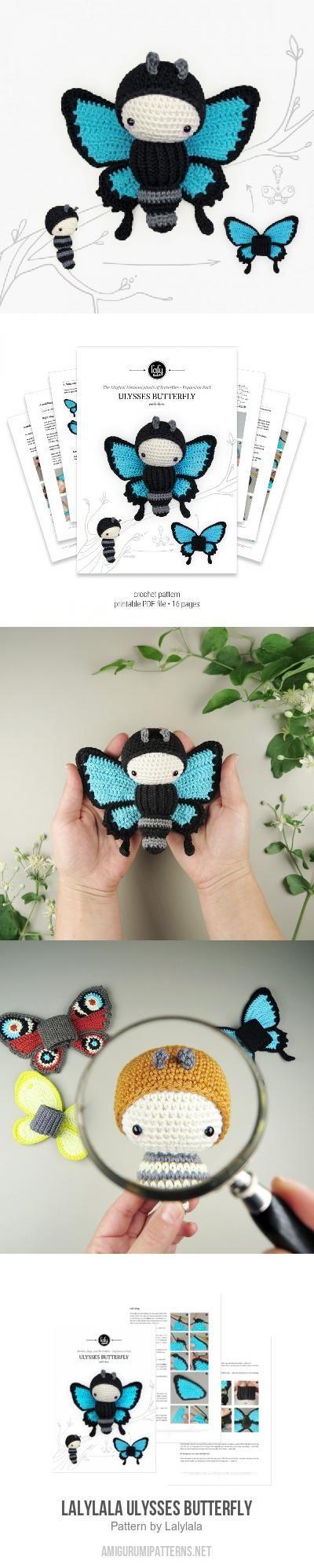 Lalylala ULYSSES Butterfly Amigurumi Pattern | insekten | Pinterest ...