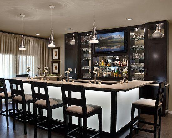 AMW Design Studio, Bloomfield Home Basement Bar Idea!