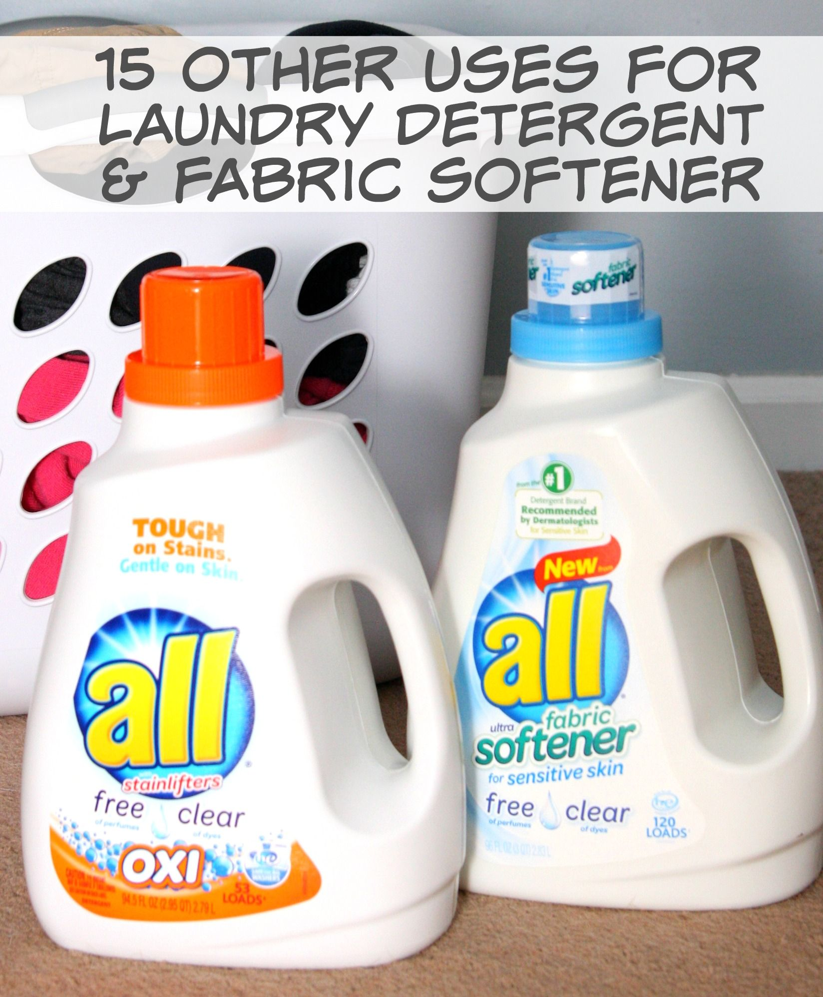 15 Other Uses For Laundry Detergent And Fabric Softener Laundry