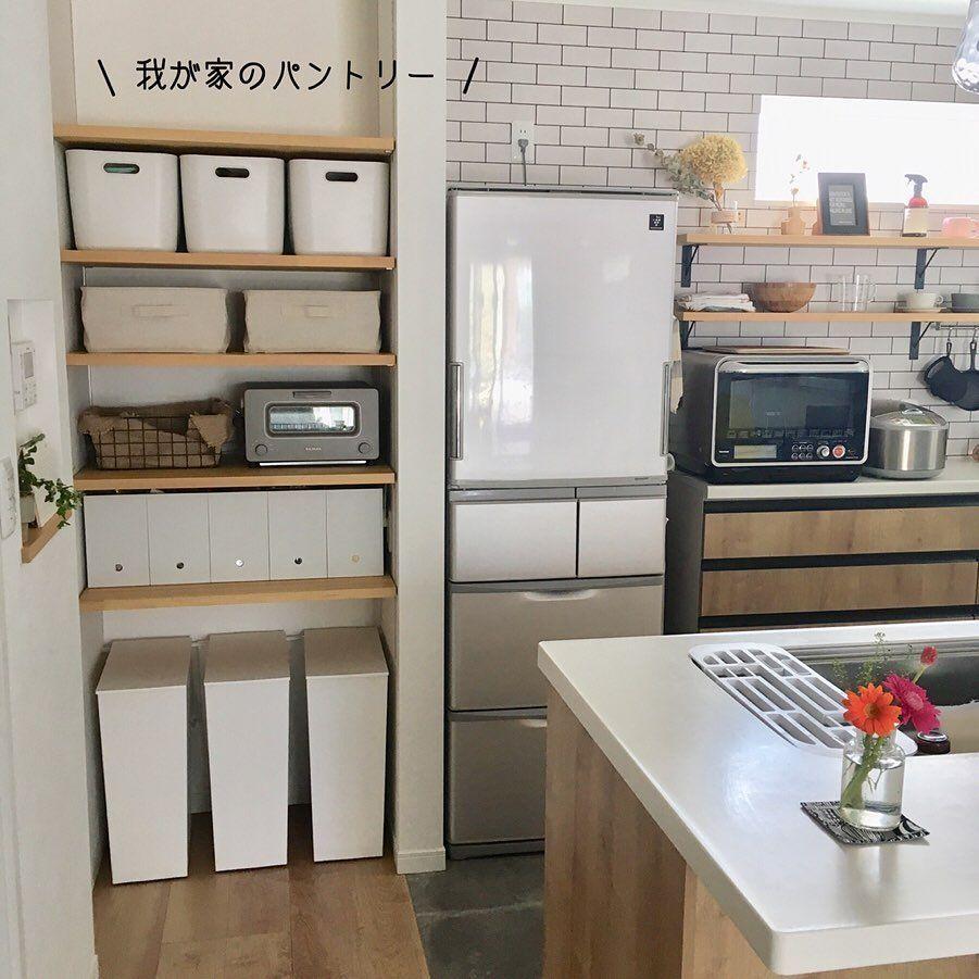 画像に含まれている可能性があるもの 室内 小さなパントリー リビング キッチン キッチンのパントリー