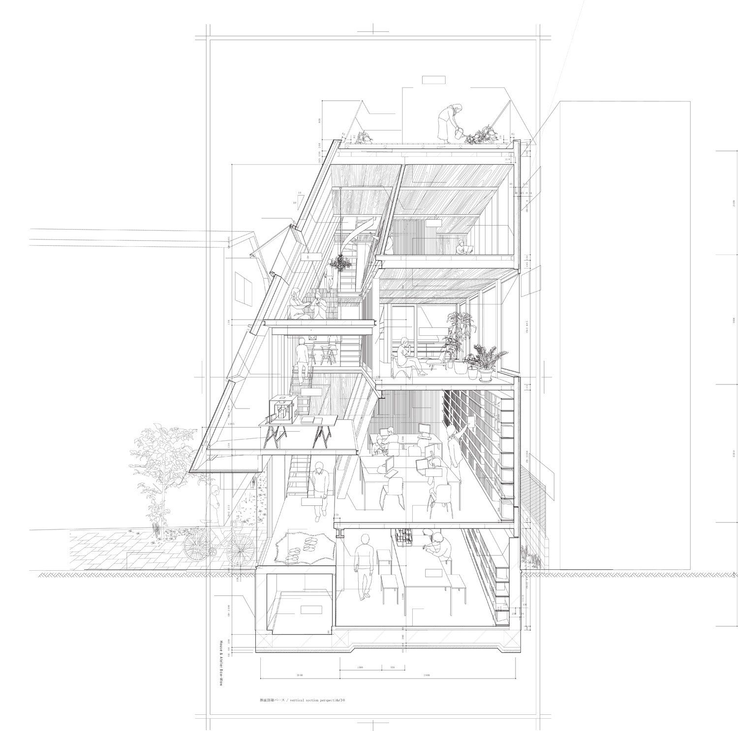 HOW TO Draw ATELIEW BOWWOW Perspectives Sectional