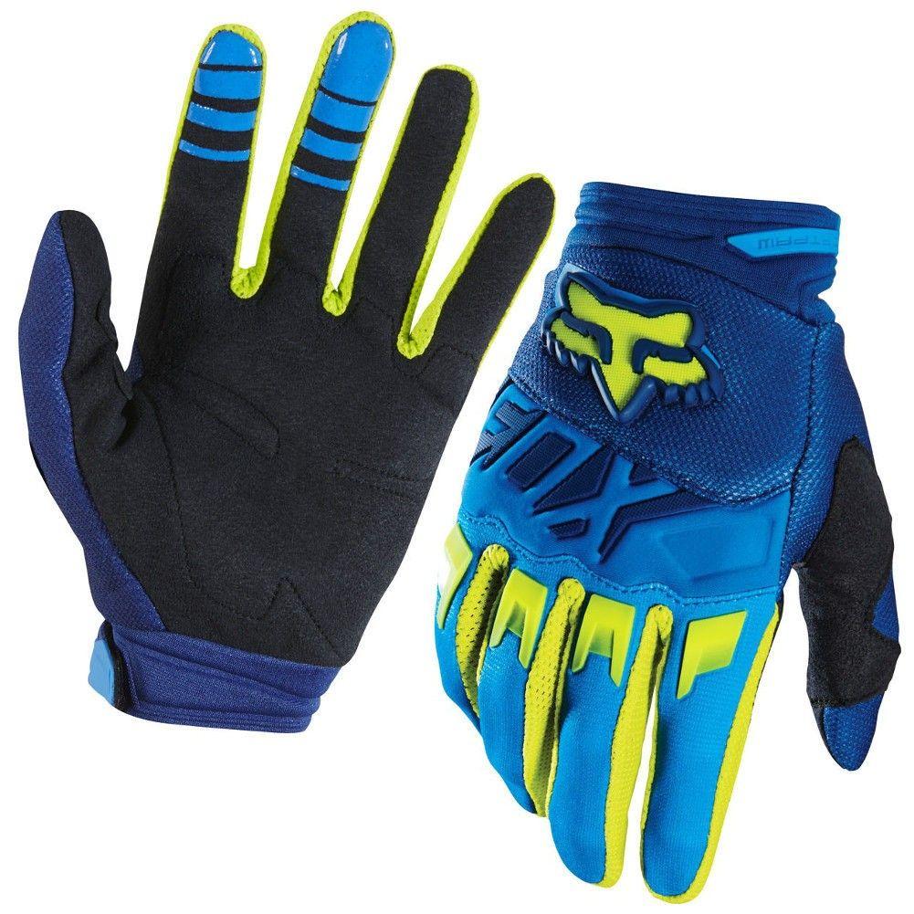Motorcycle gloves dubai - Fox Racing Dirtpaw Race Mens Motocross Gloves Blue Yellow Small