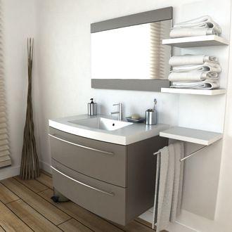 meuble salle de bain 2 vasques taupe