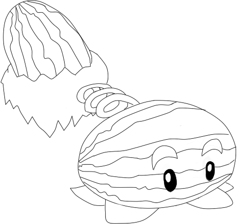 Winter Melon Pvz By Toffeez435 On Deviantart Winter Melon Colouring Pages Winter