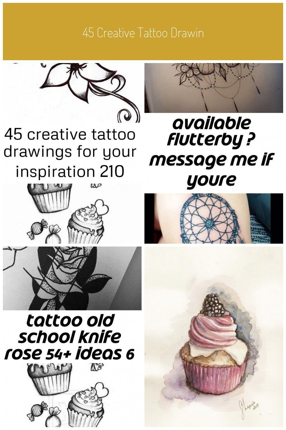 45 Creative Tattoo Drawings For Your Inspiration; colorful tattoos; thick tattoo