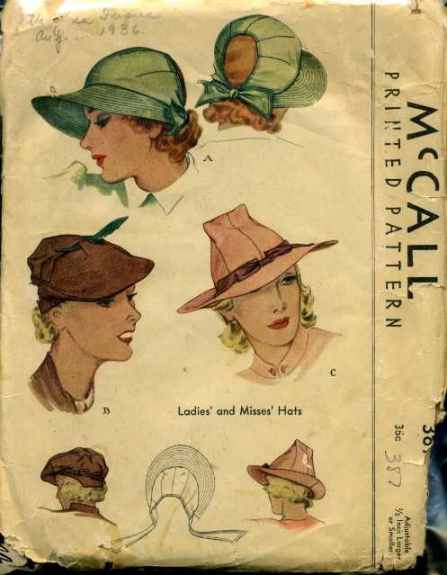 McCall 387 | 1930s, Vintage patterns and Vintage sewing patterns
