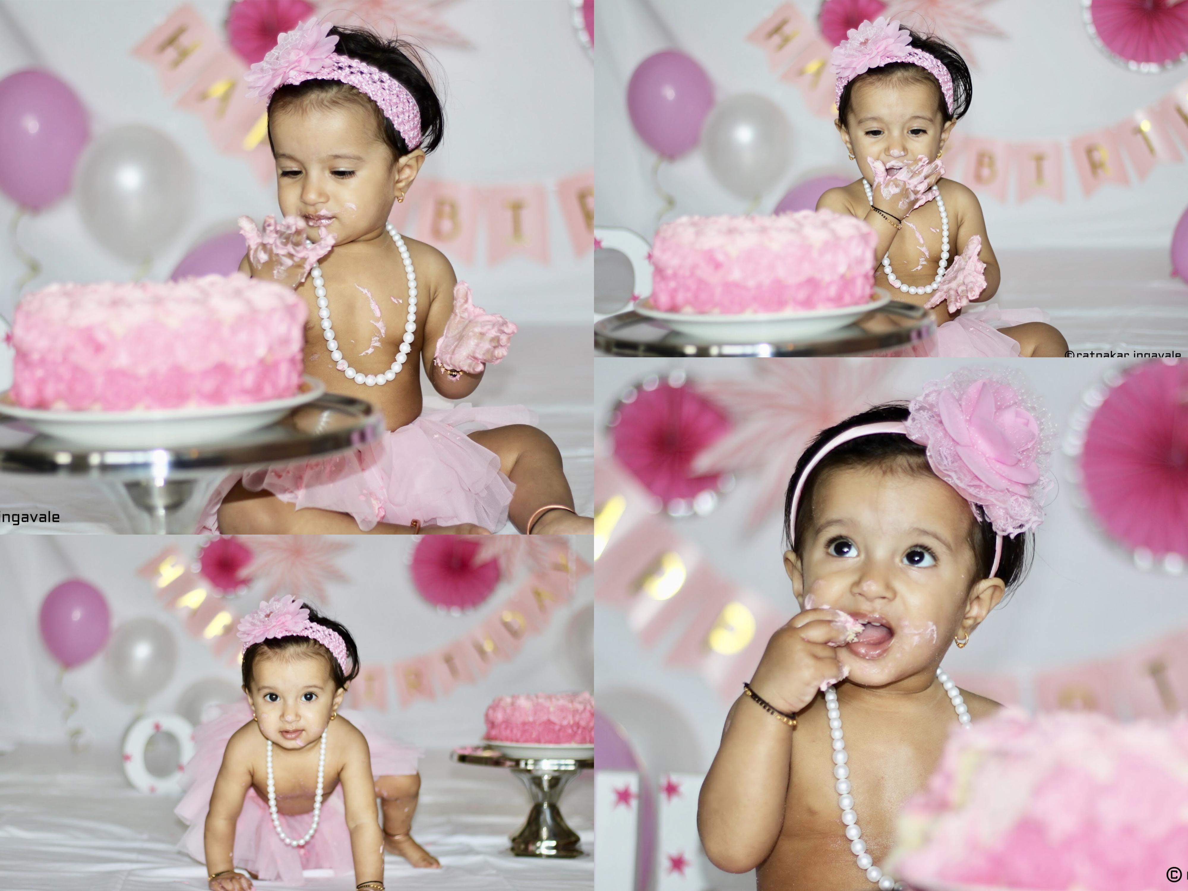 First Birthday Photoshoot Cake Smash Photoshoot