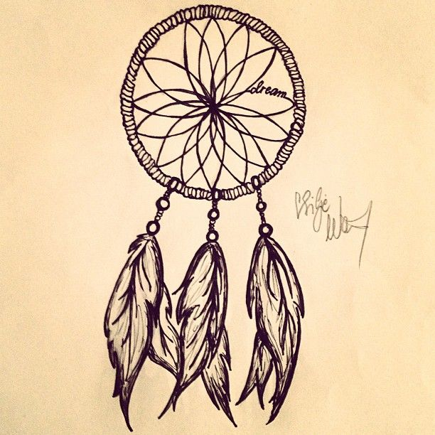 Gallery For Dreamcatcher Drawing Tumblr Easy Tattoos Pinterest Simple Dream Catcher Drawing Easy