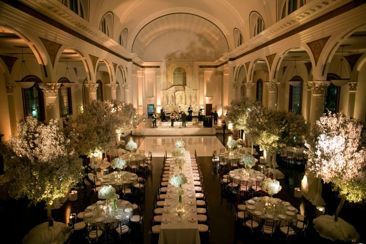 our winter wonderland white themed wedding at the vibiana in downtown los angeles