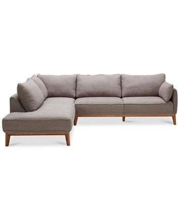 Macy S Clarke Wood Base Sofa Chaise Www Resnooze Com