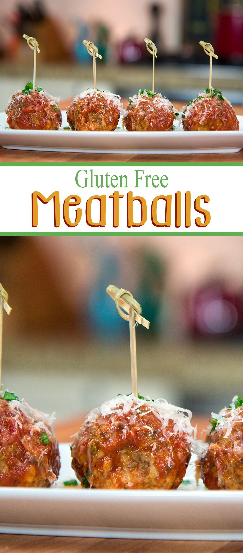 These juicy Gluten Free meatballs are bursting with flavor