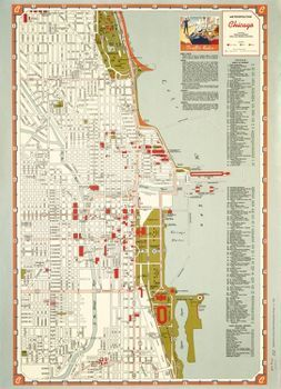 Chicago Points of Interest Map Wrapping Paper | Wrapping papers ...