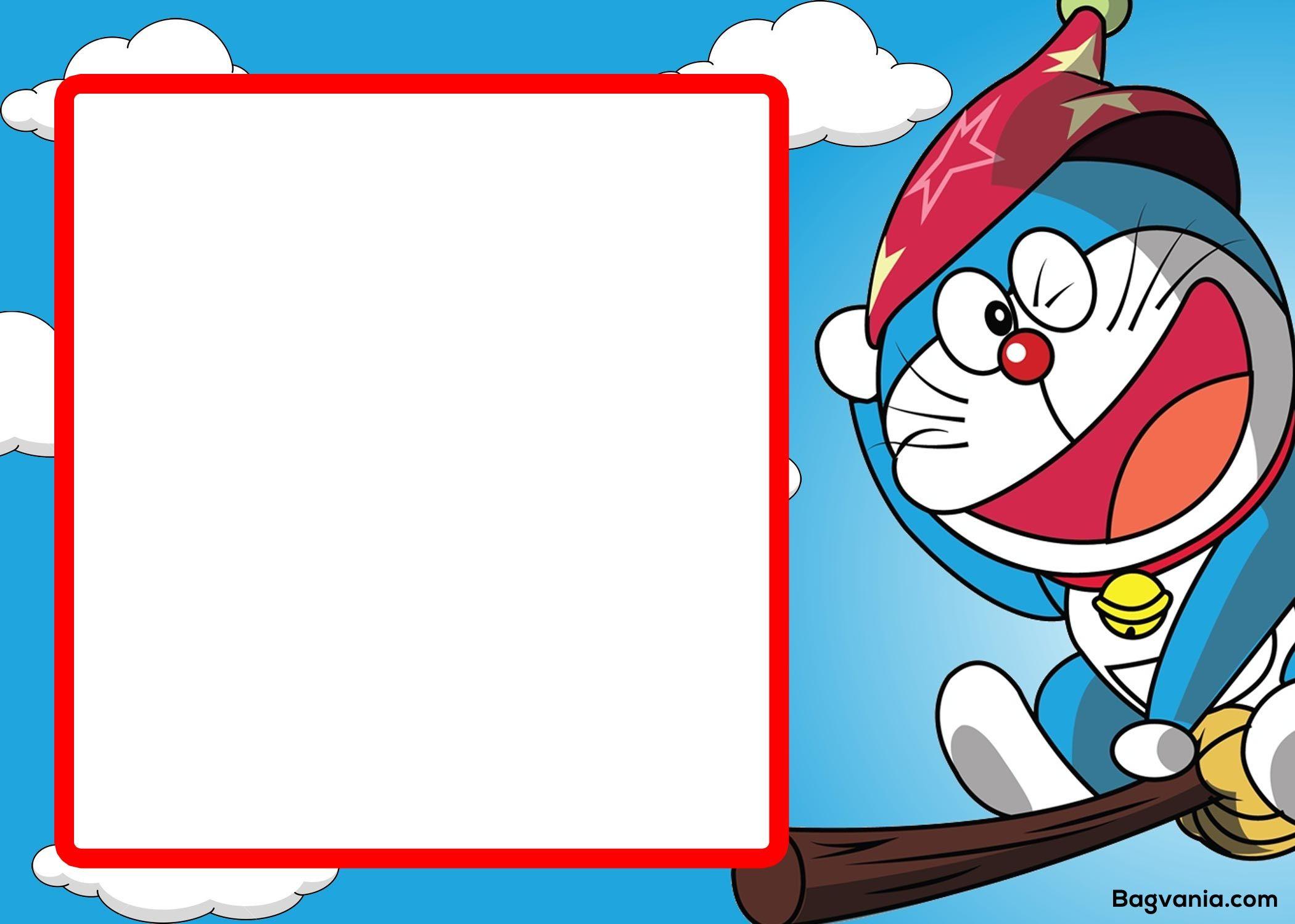 Doraemon Birthday Invitation Template 5