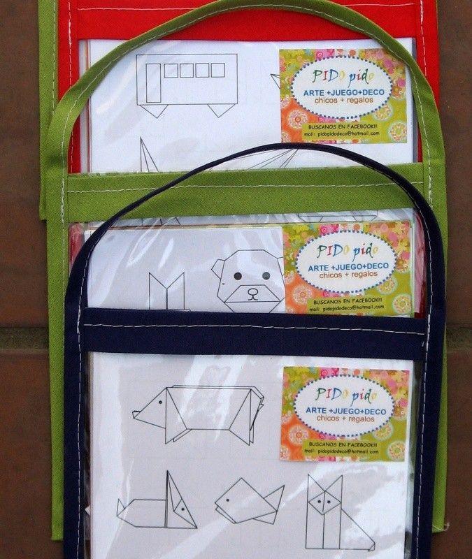 Kit origami infantil | DESCRIPCIÓN Papiroflexia para niños EDAD SUGERIDA: 6 a 12 años Contenido: 12 papeles de colores + 5 diagramas + bolsa sobre cristal Temas: ANIMALES/ CARITAS DE ANIMALES / TRANSPORTES