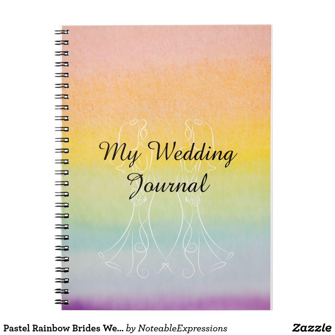 Pastel Rainbow Brides Wedding Journal