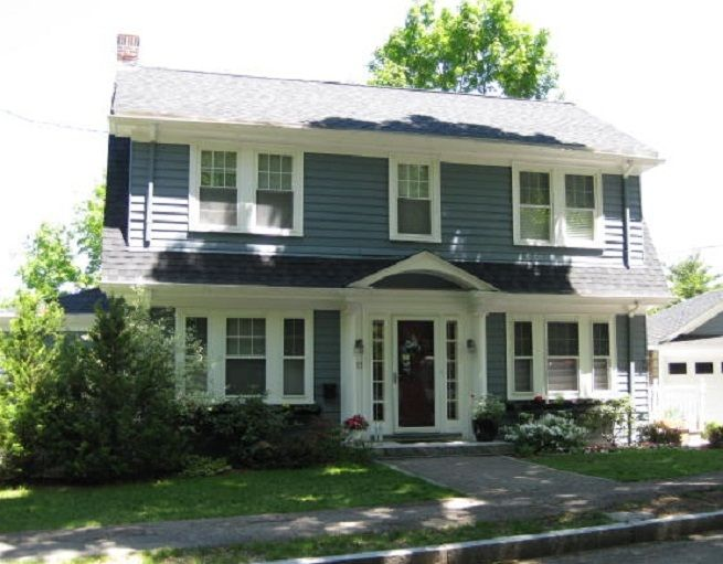 Dutch Colonial House Plans with Modern Touch: Grey Wall Two ...