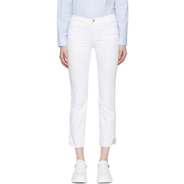Frame Denim White Le High Straight Jeans (€220) ❤ liked on Polyvore ...