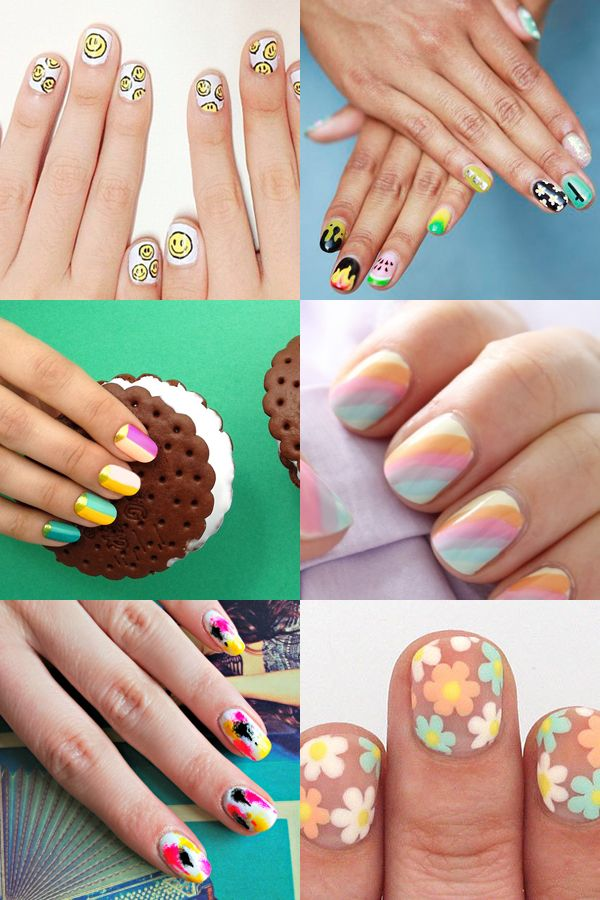 90s nail art ideas: from smiley face to neon geo - Mollie Makes ...