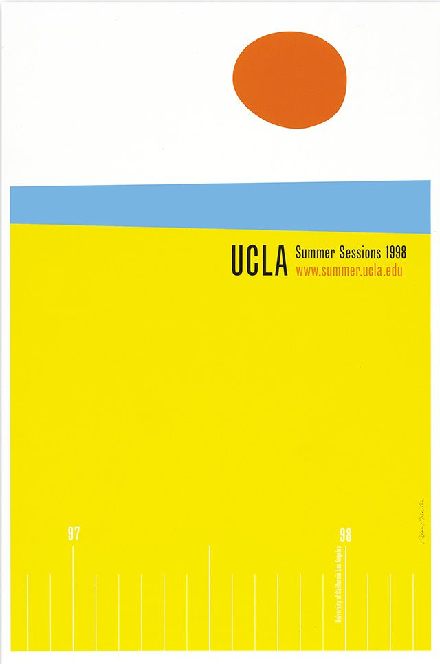 UCLA Extension, Summer Sessions poster, 1998 Noreen Morioka of Adams ...