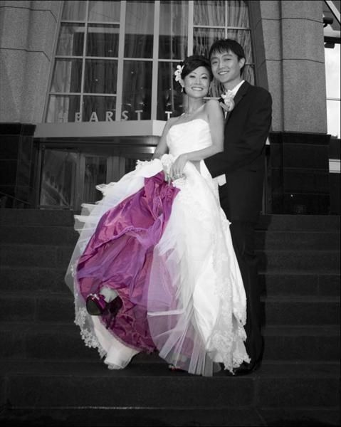 vestido novia cancan color | novias