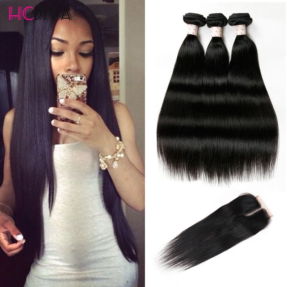 Hair weft closure bang 8a malaysian straight hair with closure hair weft closure bang malaysian straight hair with closure 3 bundles with closures cheap human hair with closure piece straight hc hair weave aliexpress pmusecretfo Images