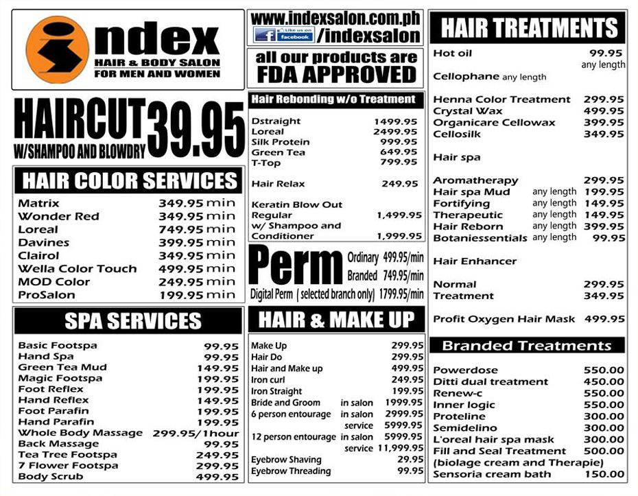 Index Salon Official Website Index Hair Body Salon For Men And