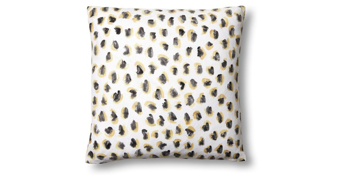 Animal 20x20 Linen Pillow, Gold by Kari Fisher