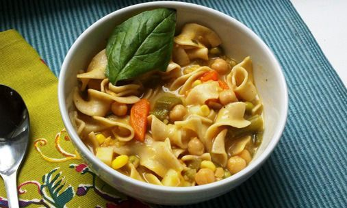 Chickpea Noodle Soup recipe #chickpeanoodlesoup Chickpea Noodle Soup recipe #chickpeanoodlesoup