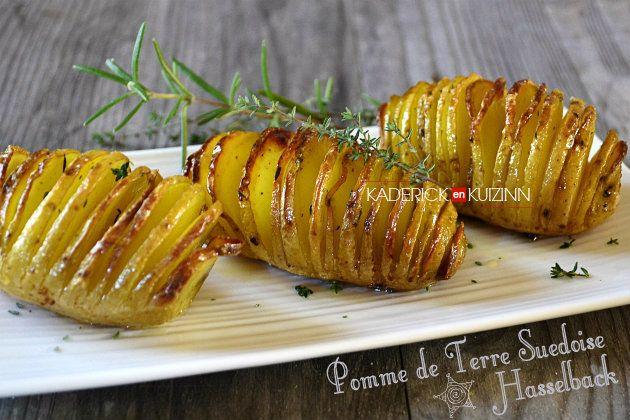 Recette suédoise pomme de terre hasselback accompagne viande ou poisson - recette express #repasnouvelan
