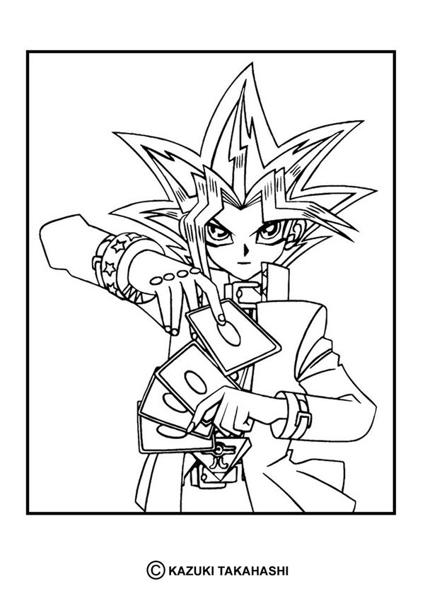 Yu Gi Oh Coloring Pages Yu Gi Oh 6 Monster Coloring Pages Anime Character Drawing Coloring Pages