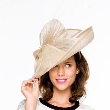 72c8f839ead13 TheHeadwearBoutique on Etsy- Ellie Champagne  Nude Kentucky Derby Hat