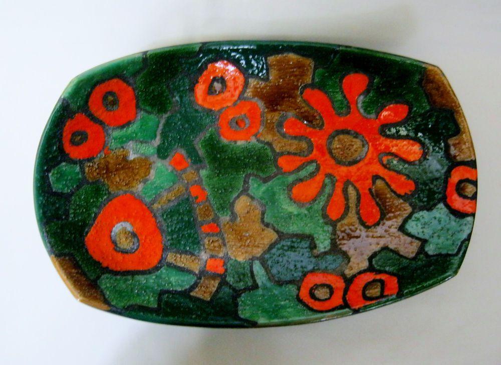 Italian BITOSSI RAYMOR Alvino Bagni Mosaic Sand Glaze 13